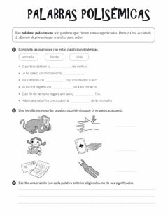Interactive worksheet Palabras polisémicas