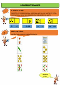 Interactive worksheet Sumas que dan 10