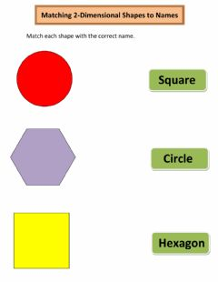 Interactive worksheet Matching 2-Dimensional Shapes to Names
