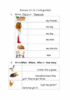 Interactive worksheet Review 13&14 (3rd grade)