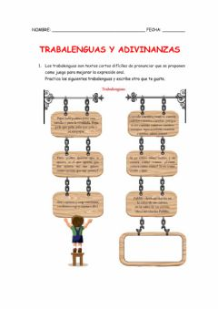 Interactive worksheet Trabalenguas y Adivinanzas