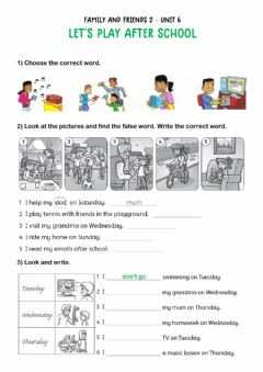Interactive worksheet Let's play after school!