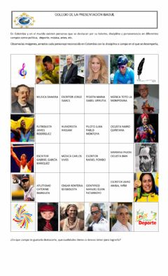 Interactive worksheet Personajes de Colombia