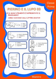 Interactive worksheet Pierino e il lupo 03 pers