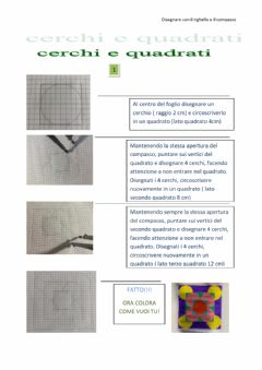 Interactive worksheet Cerchi e quadrati