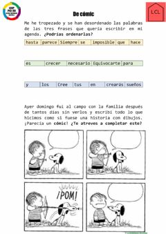 Ficha interactiva De cómic
