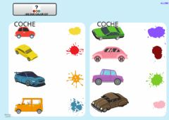 Interactive worksheet Colores y coches