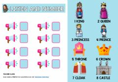 Interactive worksheet Listen and number tales