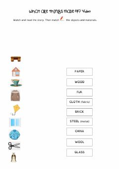 Interactive worksheet What are things made of