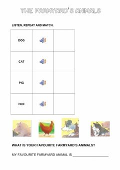 Interactive worksheet The littel red hen story