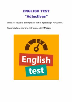 Interactive worksheet English test