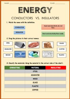 Ficha interactiva Energy: conductors and insulators