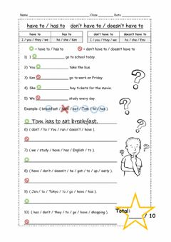 Interactive worksheet Have-Has to