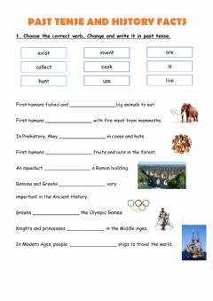 Interactive worksheet Past tense and History facts