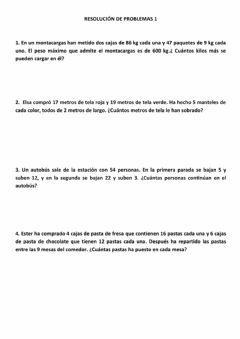 Interactive worksheet RESOLUCIÓN DE PROBLEMAS FICHA 1