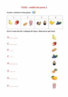 Interactive worksheet Food mettiti alla prova 1