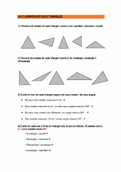 Interactive worksheet Classificació de triangles