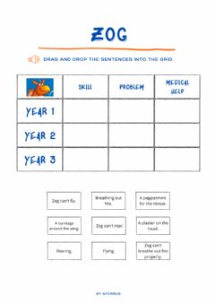 Interactive worksheet Zog