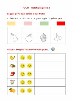 Interactive worksheet Food mettiti alla prova 2
