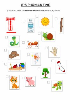 Ficha interactiva Phonics Group 1 (t)