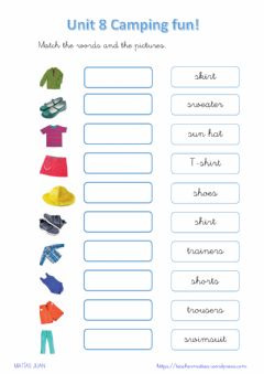 Interactive worksheet Clothes 2