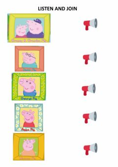 Interactive worksheet Peppa-s family