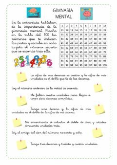 Interactive worksheet Gimnasi mental 2