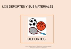 Interactive worksheet Los deportes y sus materiales