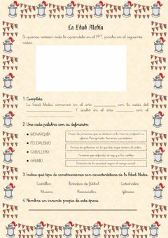Interactive worksheet La Edad Media