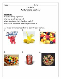 Interactive worksheet Mixtures and Solution