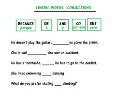 Interactive worksheet Conjuctions