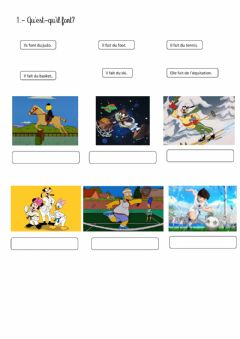 Interactive worksheet Sport et verbe faire