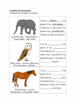 Interactive worksheet Year 6 - Unit 8 , TB page 73