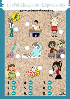 Interactive worksheet Useful classroom expressions