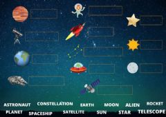 Ficha interactiva Space Words
