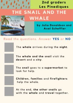 Interactive worksheet The snail and the whale 2nd graders Les Pinediques
