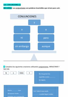 Interactive worksheet Conjunciones(i)