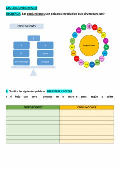 Interactive worksheet Conjunciones (ii)