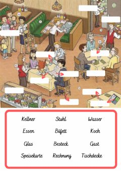 Interactive worksheet Im Restaurant Wortschatz