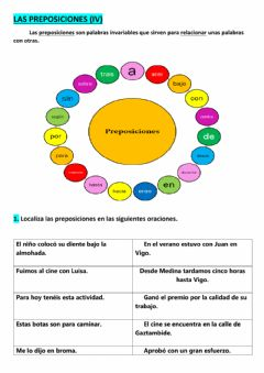 Interactive worksheet Preposiciones (iv)