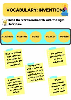 Interactive worksheet Vocabulary: inventions