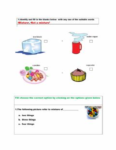 Interactive worksheet Mixtures