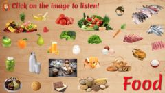 Interactive worksheet Introducing Food Listen