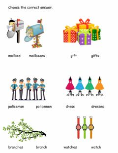 Interactive worksheet Plurals