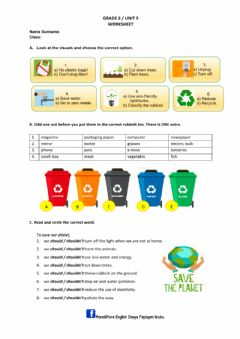 Interactive worksheet Saving the planet