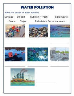 Interactive worksheet Water pollution