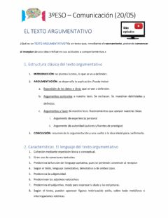 Interactive worksheet La argumentación
