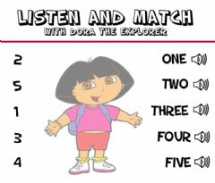 Interactive worksheet Number 1-5 Listen and Match