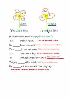 Interactive worksheet Present simple, negative