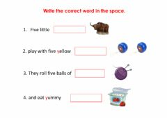 Interactive worksheet Letter Y